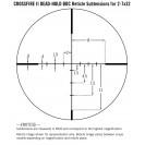 Vortex Crossfire II 2-7x32 1'' BDC